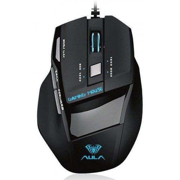 AULA F2088 programmierbare professionelle Spielertastatur - mechanische Tasten, braune Schalter 108-Tasten, RGB-LED-Beleuchtung, Kabelverbindung