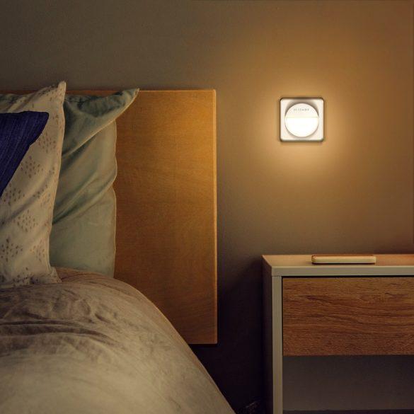 Plug-in LED Nachtlicht - BlitzWolf® BW-LT10 LED-Nachtlicht mit Dämmerungssensor, Countdown-Timer, geringer Stromverbrauch, 3000K Farbtemperatur