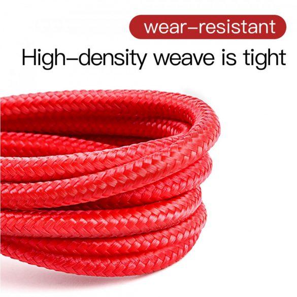 Baseus Premium Apple Kabel - 1 Meter, 2,4 Ampere Aufladung, Perlenabdeckung - Rot