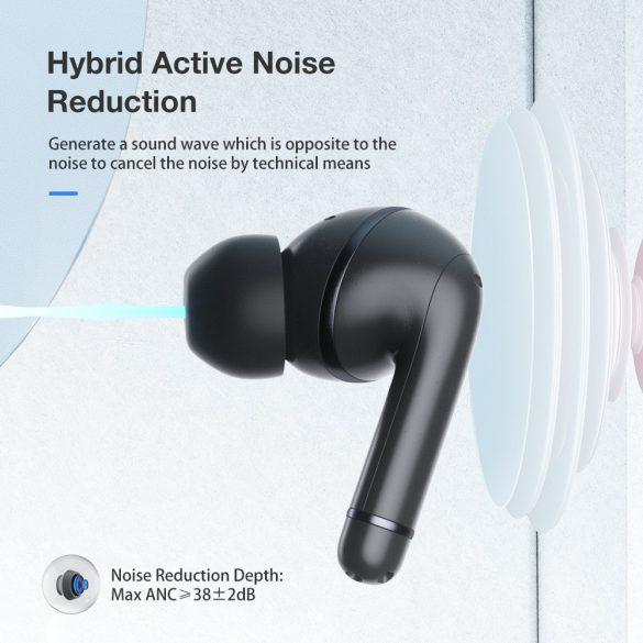 Blitzwolf® BW-ANC3 - Active Noise Reduction, halblanges Bluetooth-Headset. kraftvoller Sound, 6 Stunden Spielzeit