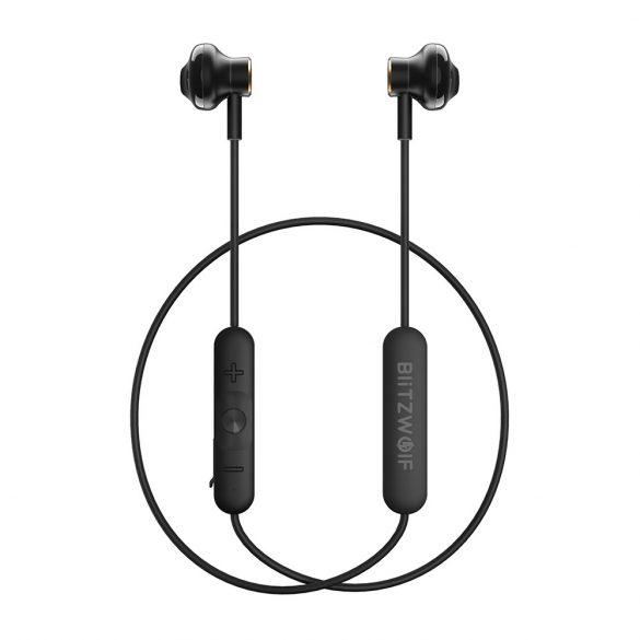 BlitzWolf-BW-BTS5, Bluetooth Kopfhörer, V4.1 In Ear Kopfhörer magnetische Headset IPX5 AptX Stereo Sport Ohrhörer 8 Stunden Spielzeit mit Mikrofon