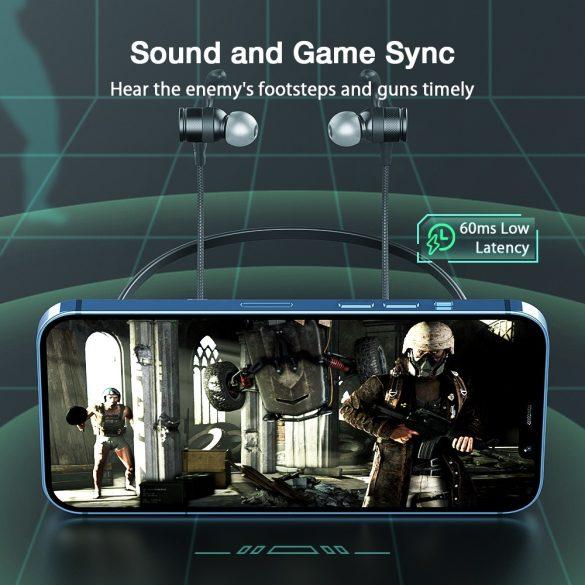 BlitzWolf® BW-FLB1 Bluetooth-Spielkopfhörer zum Aufhängen – dynamischer Treiber, kraftvoller Bass, geringer Verzögerungsmodus, schillerndes Logo RBG, lange Akkulaufzeit