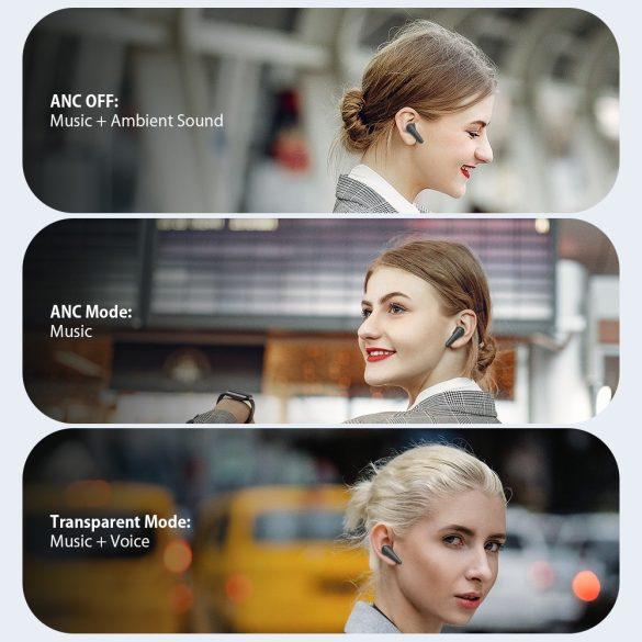 Blitzwolf® BW-FYE11 - Aktives, geräuschreduzierendes, halblanges Bluetooth-Headset. kristallklarer und tiefer Klang, 6,5 Stunden Betriebszeit