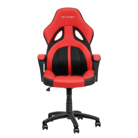Blitzwolf BW-GC3 Racing Stuhl Bürostuhl Gaming Stuhl Chefsessel Drehstuhl PU, schwarz-rot