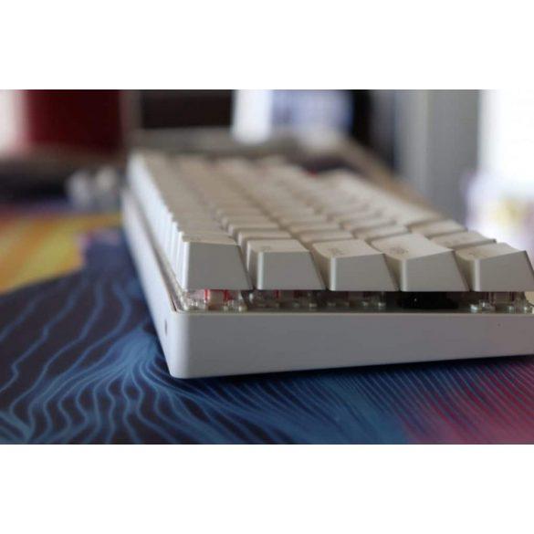 BlitzWolf BW-KB1 Gamer-Tastatur - Mechanische Tasten, RGB-LED-Beleuchtung, kabelgebunden und kabellos, IPX4 - Weiß