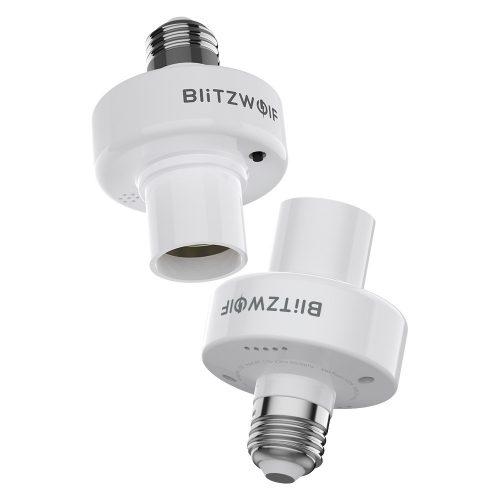 BlitzWolf®BW-LT30 E27 WIFI Smart Bulb Base Adapterhalter, App und Sprachsteuerung