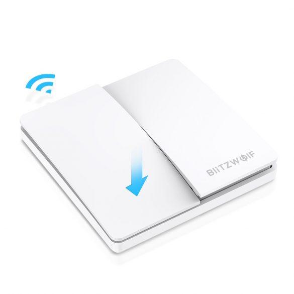 Smart Wall Switch - BlitzWolf® BW-SS2 Smart Wandlichtschalter RF 433Mhz - mit kinetischer Energie (keine Batterie erforderlich)