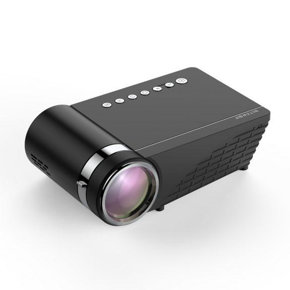 Heimkino Projektor - BlitzWolf® BW-VP1 Pro-Projektor mit Telefonbildschirmspiegelung, drahtloser Verbindung, 720P-Auflösung, 2800 Lumen, mehreren Anschlüssen und Dolby Audio