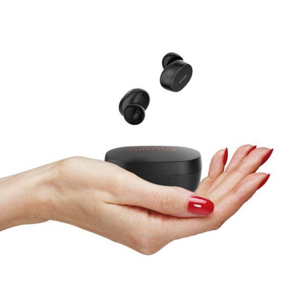 BlitzWolf® AIRAUX AA-UM4 Wahre drahtlose Bluetooth 5.0-Kopfhörer-HiFi-Stereo-Kopfhörer mit Ladetasche - Schwarz