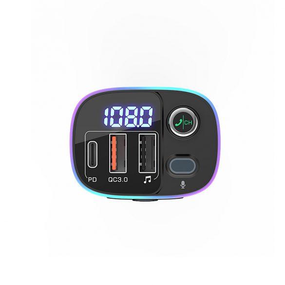 BlitzWolf® BW-BC2 - USB-Ladegerät und FM-Sender für Zigarettenanzünder