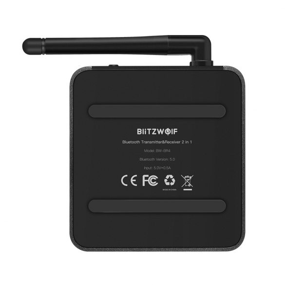 Bluetooth Transmitter Empfänger, BlitzWolf BW-BR4 Bluetooth 5.0 Receiver Sender AptX HD Bluetooth Audio Adapter