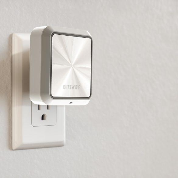 Plug-In-Nachtlicht + Dual-USB-Ladegerät BlitzWolf® BW-LT14 Nachtlicht mit Dämmerungssensor, doppelten USB-Ladeanschlüssen, 2200K Warmlicht, Berührungssteuerung