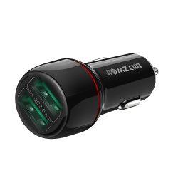 BlitzWolf® BW-SD5 Autoladegerät 25W 2xQ3.0 mit Schnellladetechnologie, LED-Beleuchtung