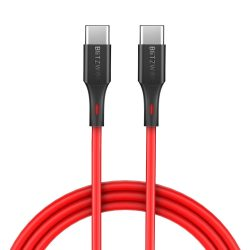 90 cm,  Type C - Type C (USB C - USB C) USB kábel -BlitzWolf® BW-TC17- 3 Amperes PD (Apple) töltés.