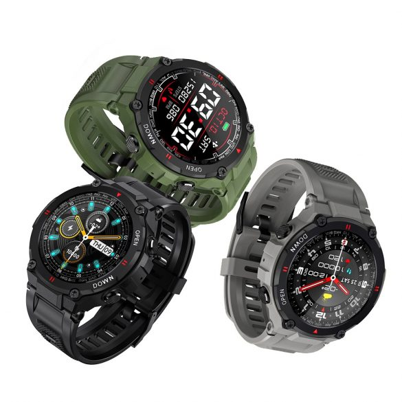"""Blitzwolf® BW-AT2 Grün Sport Smart Watch - 10-15 Tage Akkulaufzeit, 1,3 """"IPS-Display, unzählige integrierte Funktionen"""