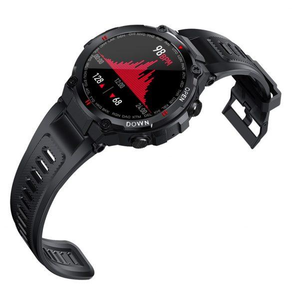 Blitzwolf® BW-AT2C (Grau) Smartwatch mit eingebautem Mikrofon und Lautsprecher mit unzähligen Aktivitätsmodusfunktionen