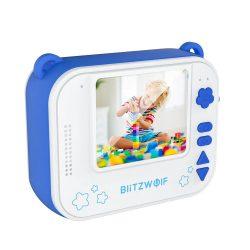 Blitzwolf BW-DP1 - Kinderkamera und Sofortdrucker in einem: 1080P, 30fps, Filter usw. - Blau