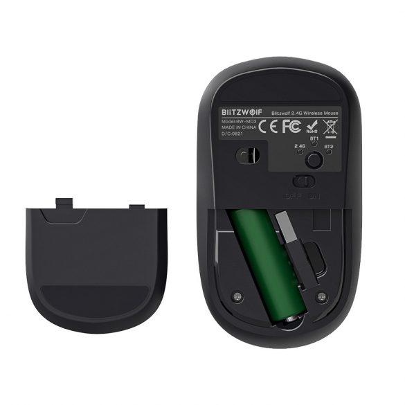 Blitzwolf BW-MO3 Wireless-Maus - Bluetooth + 2,4 GHz Wireless, 2400DPI - Silber