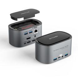 Blitzwolf BW-TH12 Hub 14 in einem: SATA3.0, 4K HDMI, 4x USB 3.0 port, 3.5 Jack, port LAN