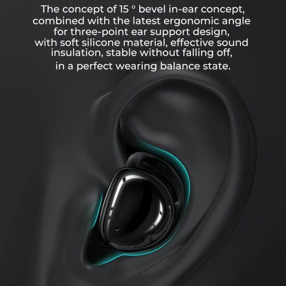 JOYROOM JR T10 Weiß- Ladebox HiFi-Bluetooth-TWS-Ohrhörer, Airoha-Chip, Aluminiumgehäuse, große Akkukapazität