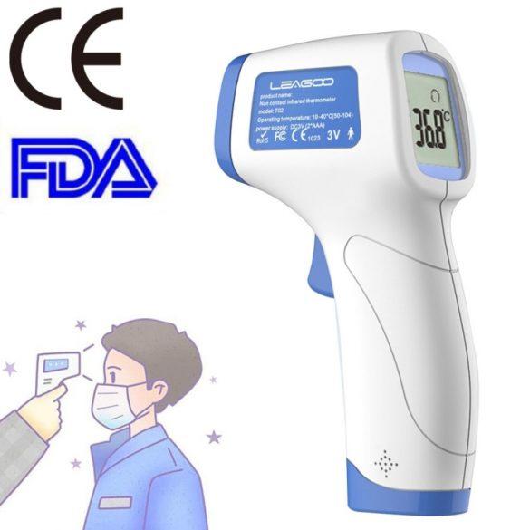 Leagoo T02 Kontaktlos Stirnthermometer - Infrarot Fieberthermometer Digitales mit Sofortige Messung, Fieberalarm - Geeignet für Baby, Erwachsener und Oberfläche