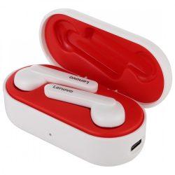 Lenovo HT28 Bluetooth V5.0-Kopfhörer - klarer Klang, elegantes Aussehen, Touch-Steuerung, IPX5 wasserdicht, Geräuschreduzierung. weiß und Rot