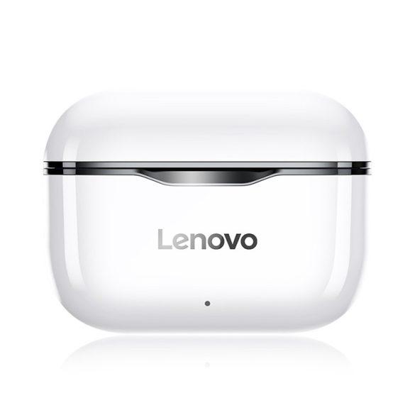 Lenovo LivePods LP1 TWS Wireless-Kopfhörer Bluetooth 5.0 Dual-Stereo-Kopfhörer mit Mikrofon A Touch Control Long Standby 300 mAh IPX4 Wasserdichtes Headset Rauschunterdrückung Ladekoffer