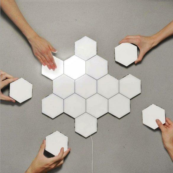Ningbo Hexagonal Lamps - (6 Stück) Modulare Berührungsempfindliche Beleuchtung Magnetische Kreative Dekoration Wand Nachtlicht