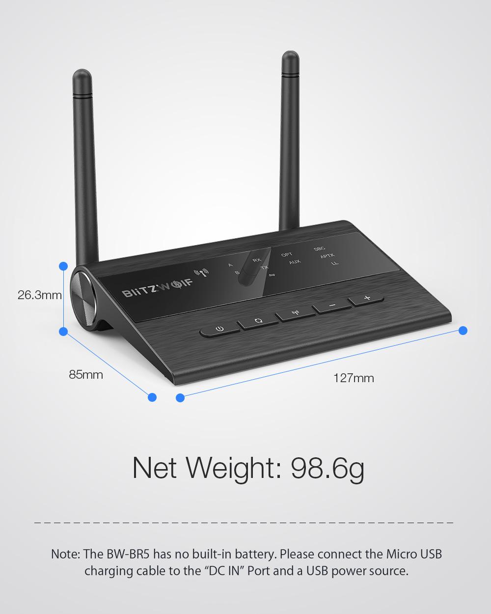 BlitzWolf BW-BR5 Bluetooth receiver