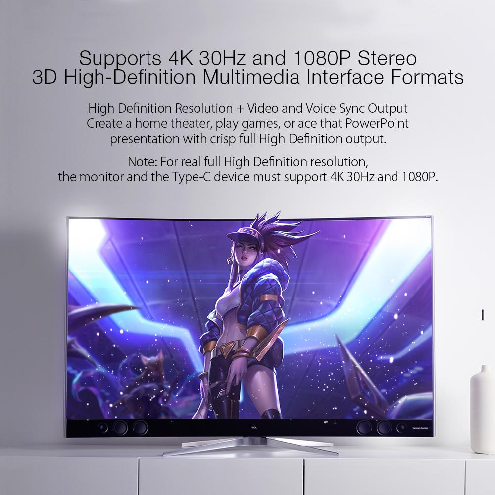 BlitzWolf® BW-TH4 - Type-C to HD Multimedia Interface